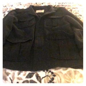 Old navy wool jacket gray with pockets